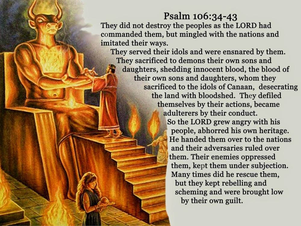 Moloch sacrifice - Psalm 106